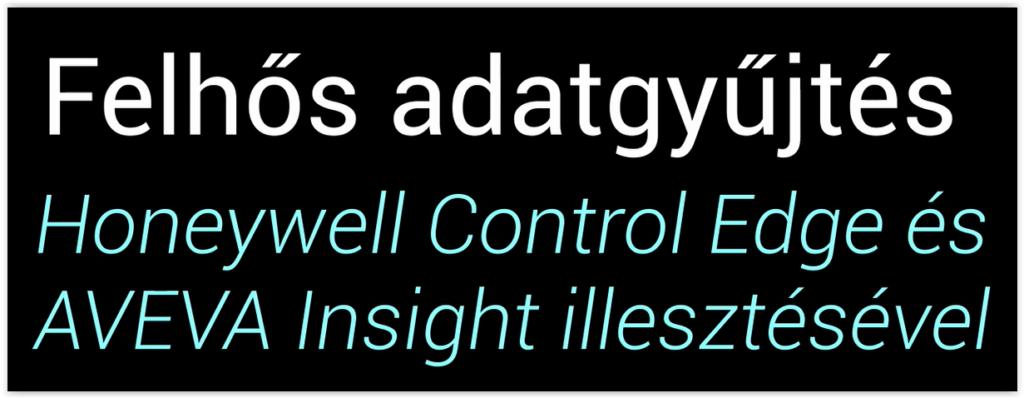 Terepi adatok felhőben tárolása-AVEVA InSight